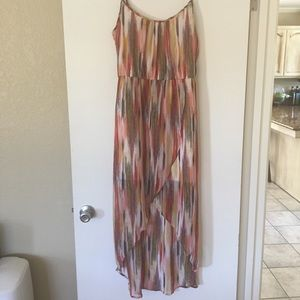 Dresses & Skirts - Multi colored high low dress